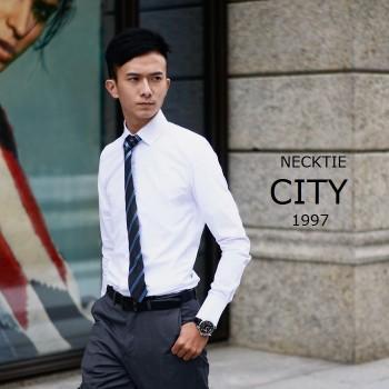 【Necktiecity領帶屋】【實體店面】修身合身 長袖白襯衫 多種尺寸 正式場合 上班商務面試